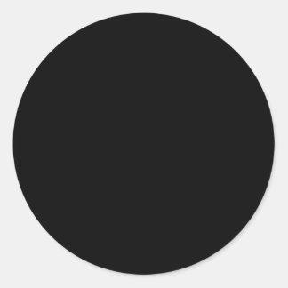 Juste code noir 000000 de sortilège sticker rond