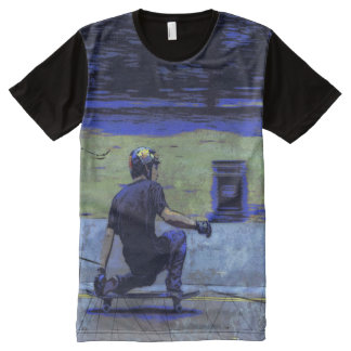 Juste Cruisin - planchiste T-shirt Tout Imprimé