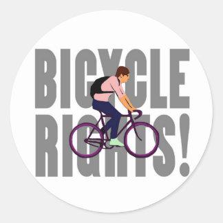 Juste de bicyclette dans le gris sticker rond