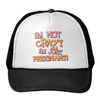Juste enceinte non fol casquettes de camionneur