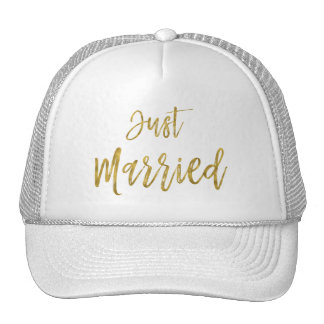 Juste feuille d'or mariée et casquette blanc de
