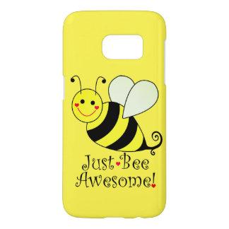 Juste le jaune impressionnant d'abeille gaffent coque samsung galaxy s7