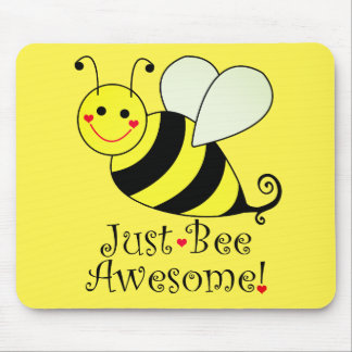 Juste le jaune mignon impressionnant d'abeille tapis de souris