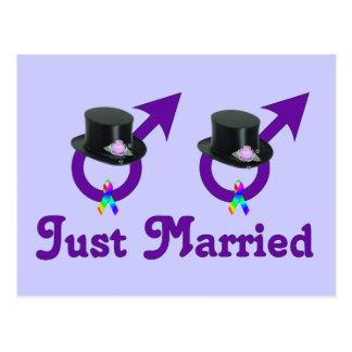 Juste mâle gai formel marié carte postale
