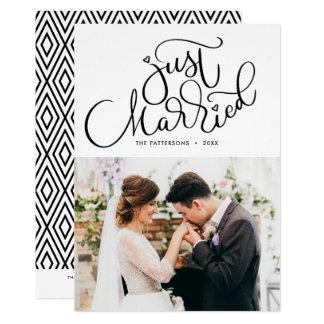 Juste mariage marié de photo marqué avec des carton d'invitation  12,7 cm x 17,78 cm