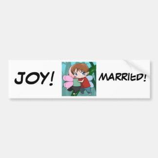 Juste marié, adhésif pour pare-chocs autocollant de voiture