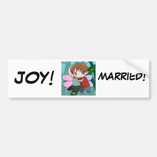 Juste marié, adhésif pour pare-chocs adhésif pour voiture