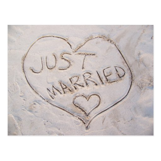 Juste marié cartes postales
