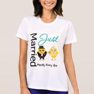Juste marié heureusement pour toujours t-shirt