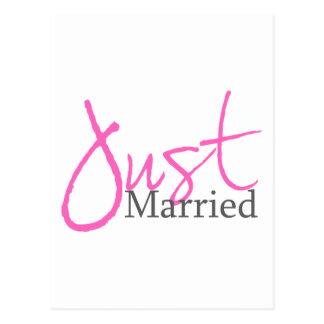 Juste marié (manuscrit rose) carte postale