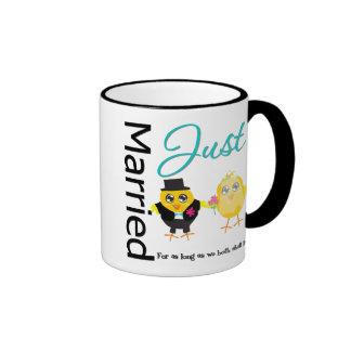 Juste marié pour tant que nous tous les deux mug ringer