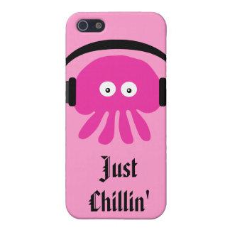 Juste méduses roses de Chillin avec des têtes Étuis iPhone 5