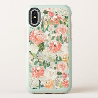 Juste motif floral d'aquarelle couleur pêche