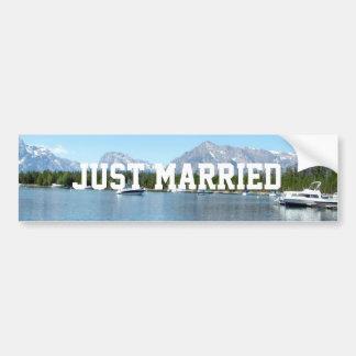 Juste nature sauvage mariée Teton grand Autocollant De Voiture