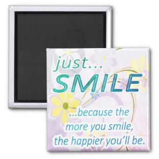 Juste sourire magnet carré