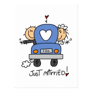 Juste T-shirts et cadeaux mariés de jeunes mariés Carte Postale
