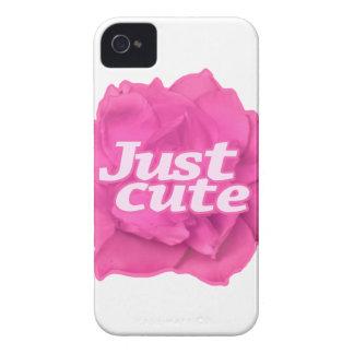 Juste texte mignon au-dessus de rose de rose coque iPhone 4