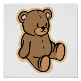 Juste un ours de nounours affiches