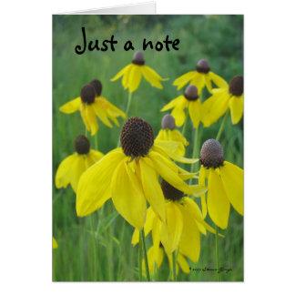 Juste une carte de note/Coneflowers jaune