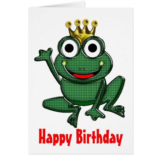 Juste une grenouille ou un M. Right Birthday Cartes De Vœux