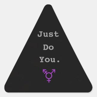 Juste vous changez de sexe l'autocollant - noir sticker triangulaire