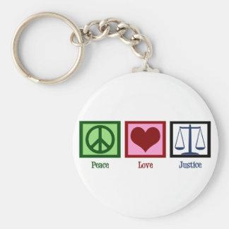 Justice d'amour de paix porte-clefs
