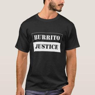 justice de burrito - blanc sur l'arrière - plan t-shirt