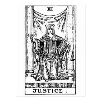 Justice de tarot ' carte postale