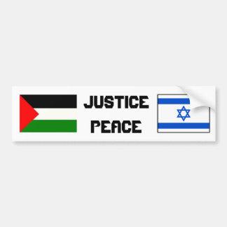 Justice et paix dans Israel-Palestine. Autocollant Pour Voiture