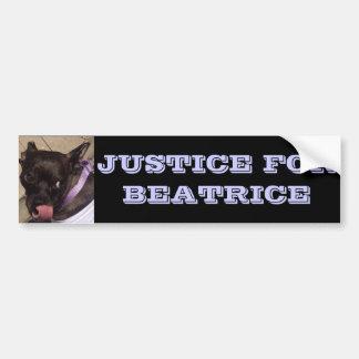 Justice pour l'adhésif pour pare-chocs de Béatrice