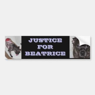 Justice pour l'adhésif pour pare-chocs de Béatrice Autocollant De Voiture