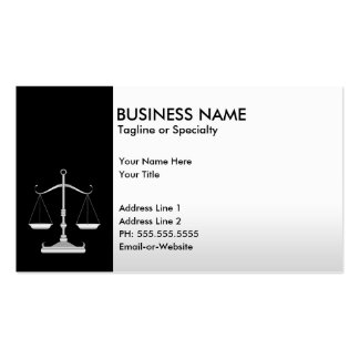 justice professionnelle cartes de visite personnelles