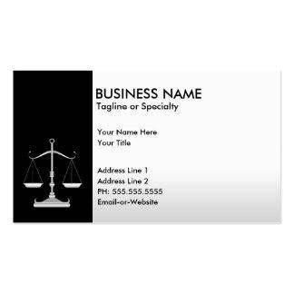 justice professionnelle carte de visite standard