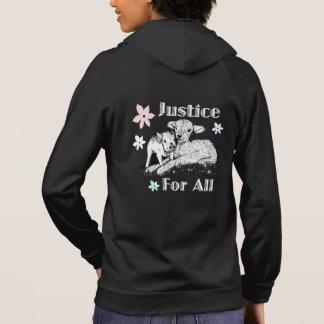 Justice végétalienne pour tout le sweat - shirt à