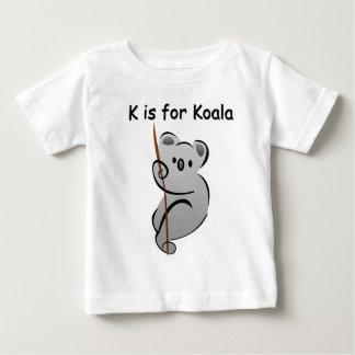 K est pour le koala t-shirt pour bébé