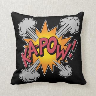 KA-POW ! Graphique de bande dessinée Coussin Décoratif