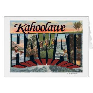 Kahoolawe, Hawaï - grandes scènes de lettre Carte De Vœux