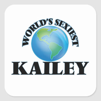 Kailey le plus sexy du monde autocollants carrés