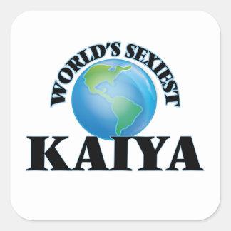 Kaiya le plus sexy du monde sticker carré
