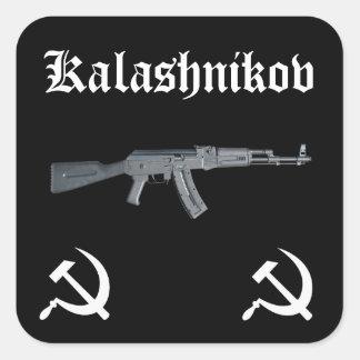 Kalachnikov AK-47 Sticker Carré