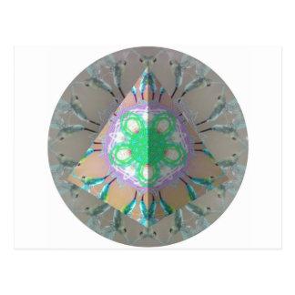 Kaléidoscope 3d d'oiseau de ronflement de triangle carte postale