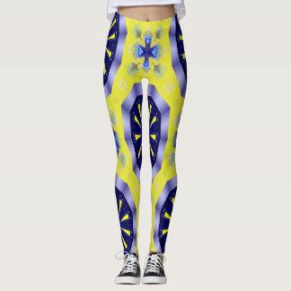 kaléidoscope bleu et jaune Legging