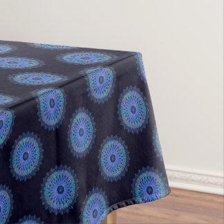 Kaléidoscope bleu lumineux de mosaïque nappe