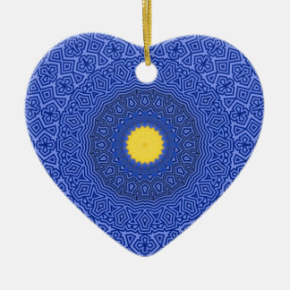 Kaléidoscope dans le cas de téléphone d'ÉDITION Ornement Cœur En Céramique
