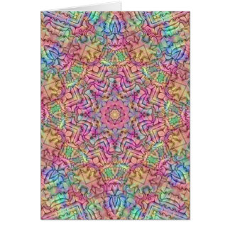 Kaléidoscope de couleurs de techno carte de vœux