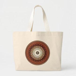Kaléidoscope de cuivre en bronze riche renversant grand tote bag