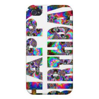 Kaléidoscope de joyeux anniversaire iPhone 4 case