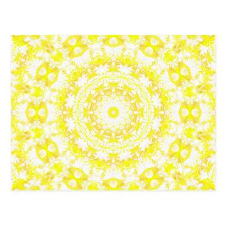 Kaléidoscope de meringue de citron carte postale