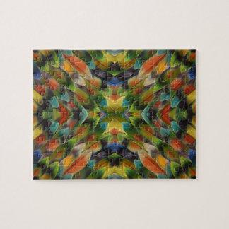 Kaléidoscope de plume de perruche puzzle