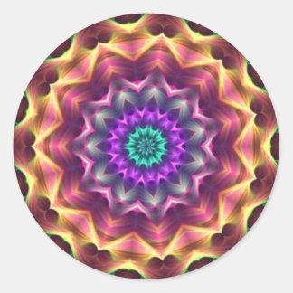 Kaléidoscope de rêveur adhésif rond